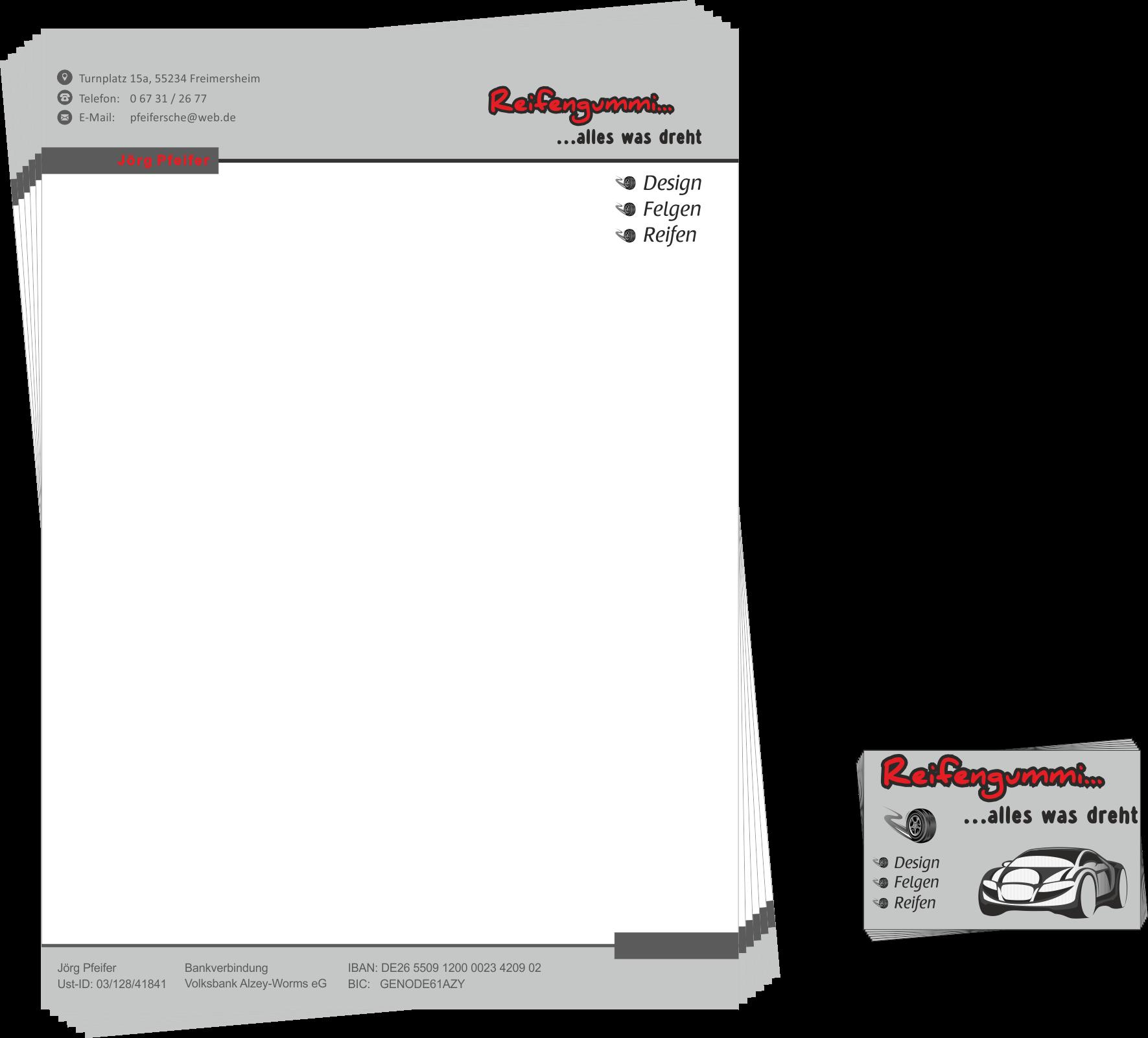 Briefpapier erstellen lassen in Alzey oder Kirchheimbolanden